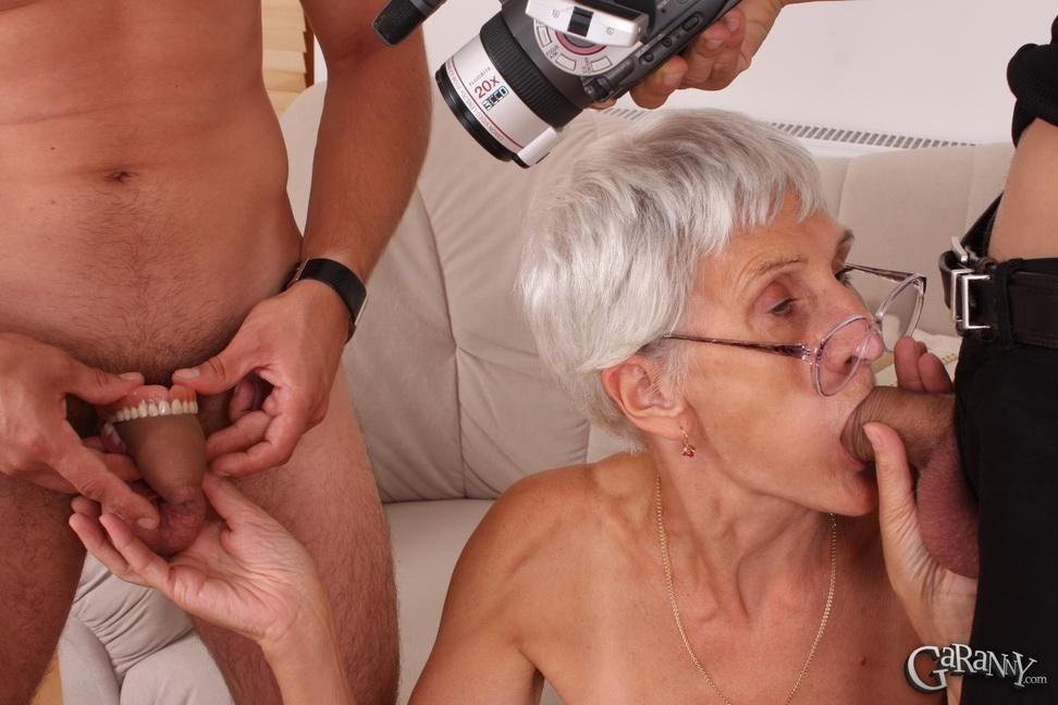 Секс с очень худой бабкой