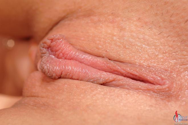 Красивая американка крупно раком показывает щель анала и матки